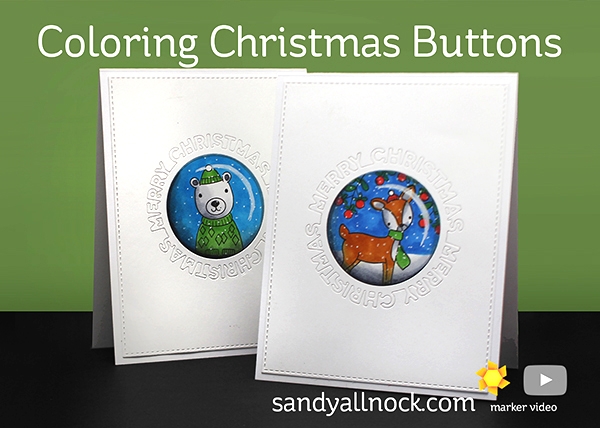 Coloring Christmas Buttons