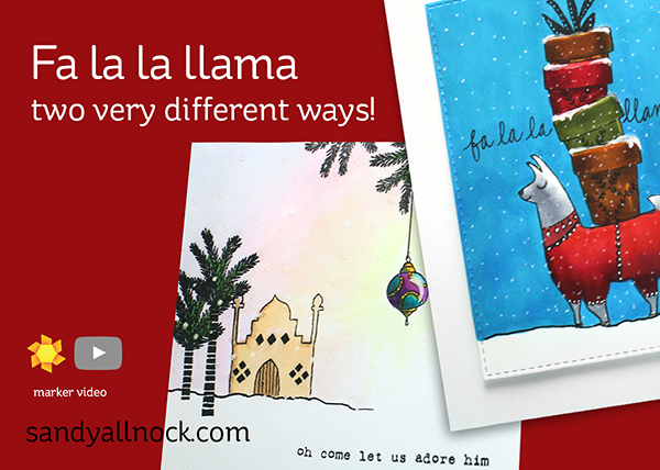 Flora & Fauna La La Llama: Two very different ways!