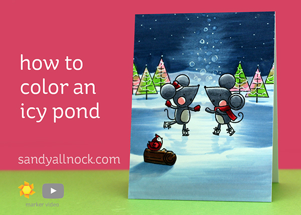 R2C Day7: Color an icy skating pond