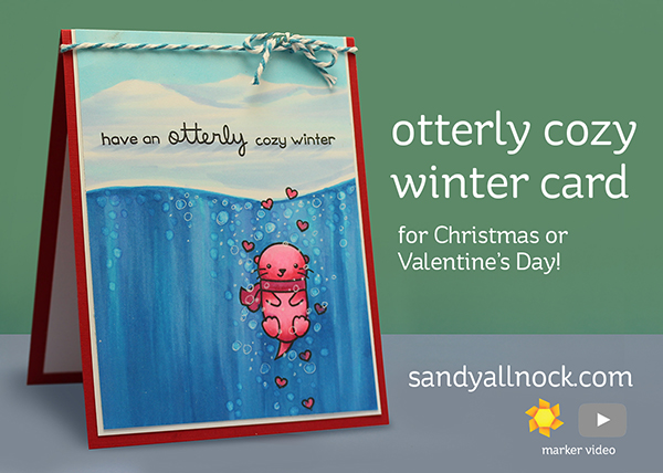 R2C Day5: Otterly Cozy Winter Card