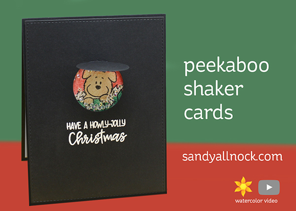 R2C Day10: Peekaboo Shaker Cards (with puppies)