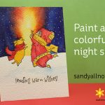 R2C Day8: Paint a colorful night sky (Penny Black Sending Wishes)