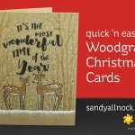 R2C Day1: Quick 'n easy Woodgrain Christmas Cards