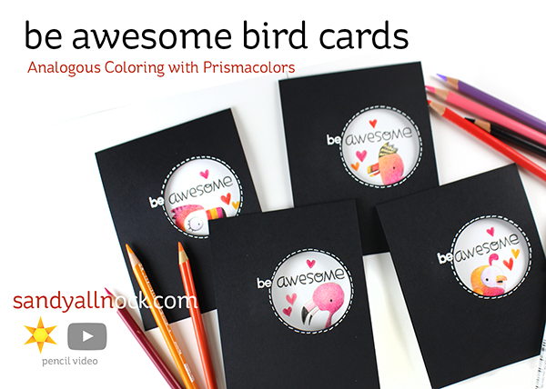 Be Awesome Bird Cards – Paper Smooches Baby Birds
