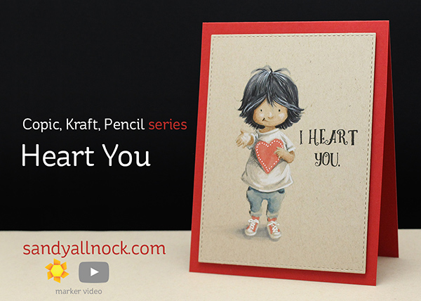 Copic Kraft Pencil: Heart You