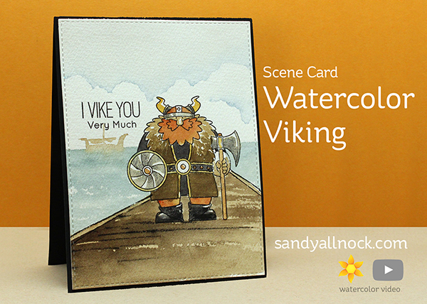 Scene Card: Watercolor Viking