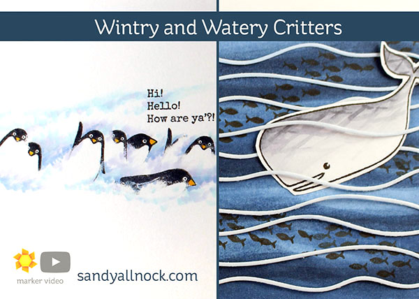 Wintry, Watery Critters – TWO videos, new Ellen Hutson Essentials