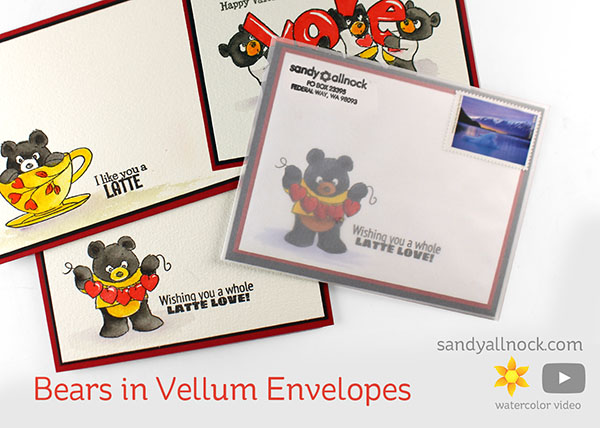 Bears in Vellum Envelopes (Art Impressions Valentine Bears)