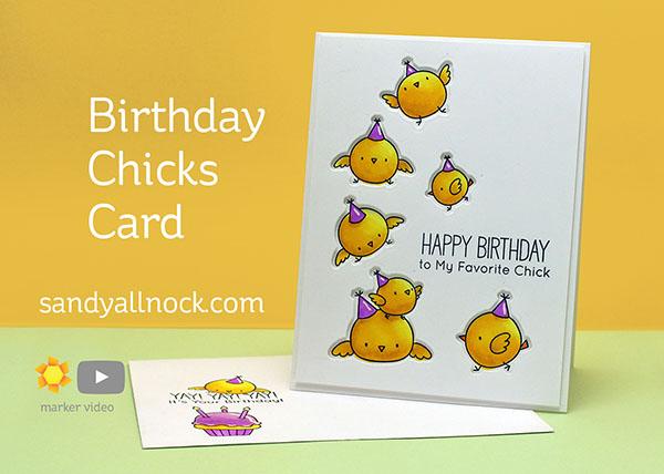 Birthday Chicks card tutorial by Sandy Allnock