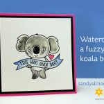 Watercolor a Fuzzy Koala