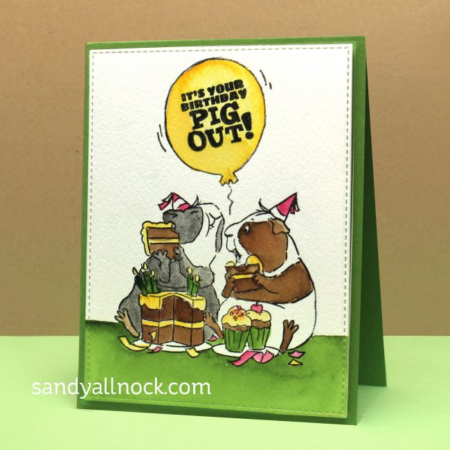 Watercolor A Set Of Guinea Pig Cards Sandy Allnock