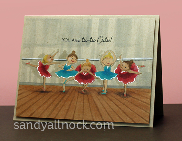 copic pencil kraft series ballerina cards sandy allnock