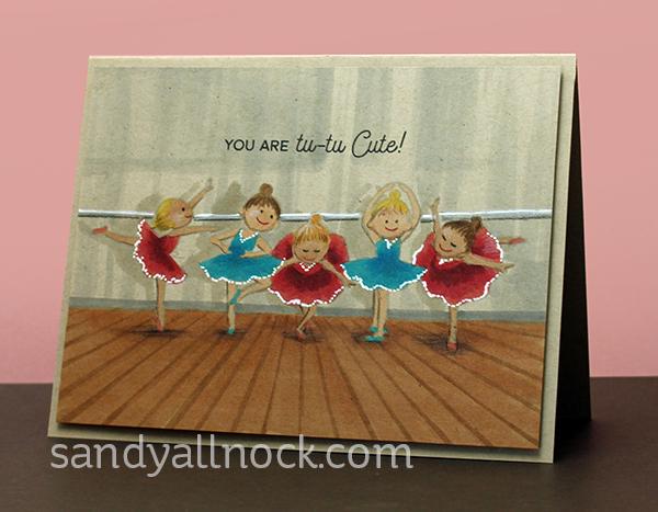 copic pencil kraft series ballerina cards sandy allnock