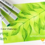 Copic Color Challenge March 2018: Spring Bokeh
