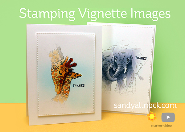 Sandy Allnock Stamping Vignette Images with Impression Obsession Giraffe Love