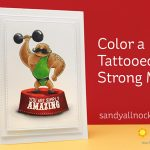 Color a Tattooed Strong Man