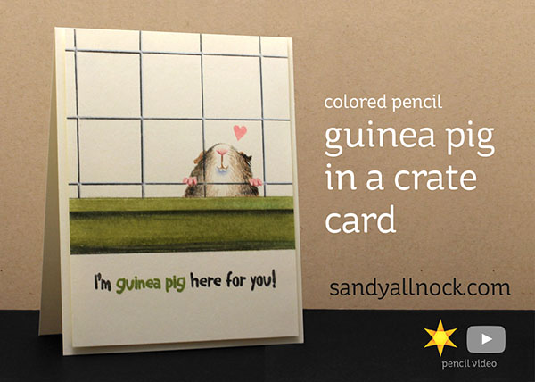 """Guinea Pig in a Crate"" card"
