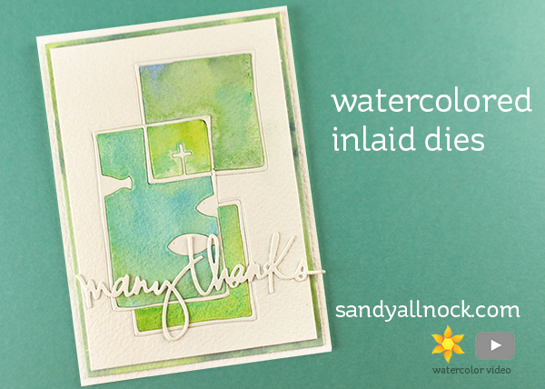 Alexandra Renke Bloghop: Inlaid Watercolor