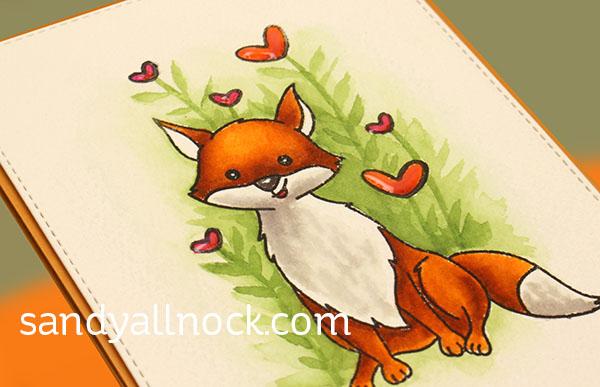 Feeling Foxy Zigs Daniel Smith Watercolor Sandy Allnock