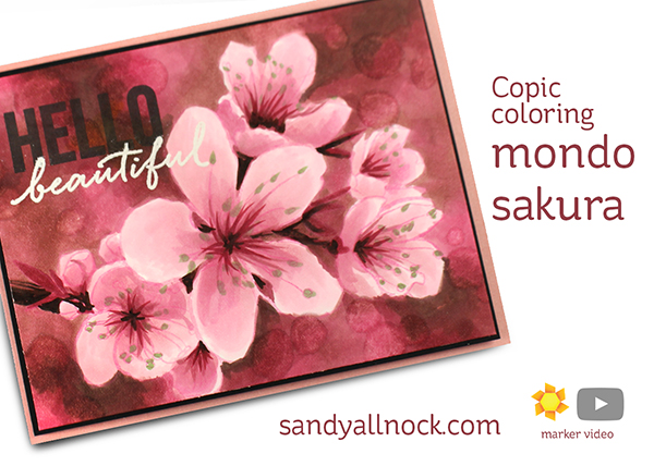 Mondo Sakura with Copic bokeh background