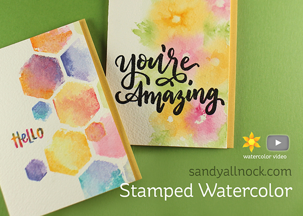 Stamped Watercolor Cards – The Stamp Market