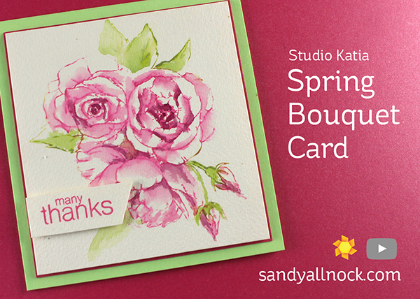 Spring Bouquet Card (Studio Katia)