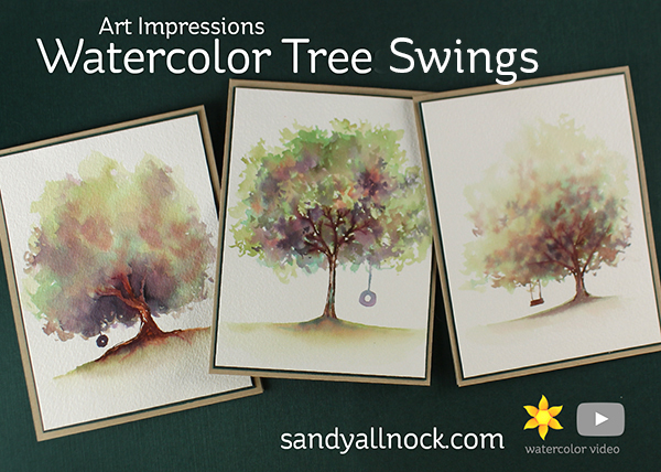 Art Impressions Watercolor Tree Swings – Video Hop!