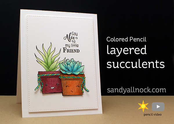 Colored Pencil Tutorial: Layered Succulents