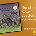 Nighttime Roller Coaster Card in just three colors!