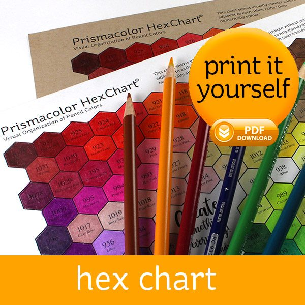 picture relating to Printable Prismacolor Color Chart known as Prismacolor Hex Chart
