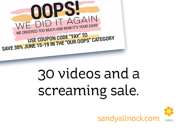 Enabler alert!!! 30 videos (and a screaming sale!)