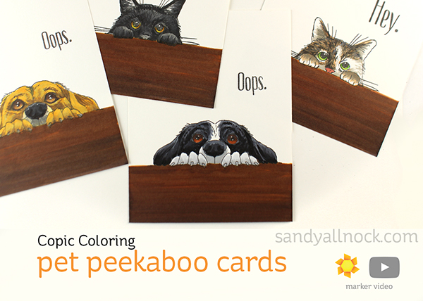 4 Customized Pet Peekaboo Cards