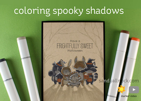 Coloring Spooky Shadows: Frightfully Sweet