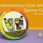 World Watercolor Month #1: Complementary Color Wheel Card