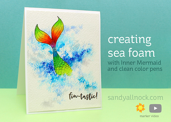 World Watercolor Month #8: Creating Sea Foam (Clean Color + Inner Mermaid)