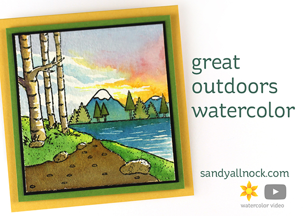 World Watercolor Month #13: Great Outdoors Watercolor