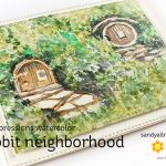 World Watercolor Month #2: Hobbit Neighborhood Card
