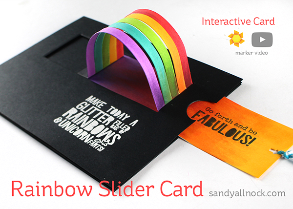 World Watercolor Month #4: Interactive Rainbow Slider Card