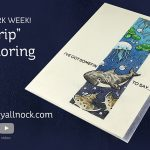 World Watercolor Month #11: Strip Coloring for Shark Week!