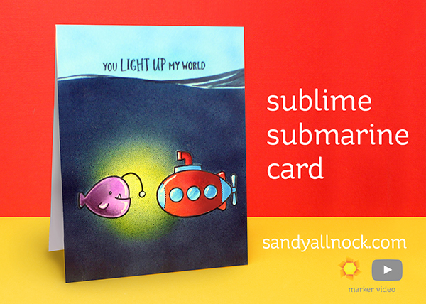World Watercolor Month #3: Sublime Submarine Card
