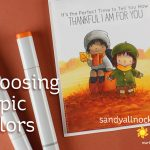 Choosing Copic Colors: MFT Fall Friends
