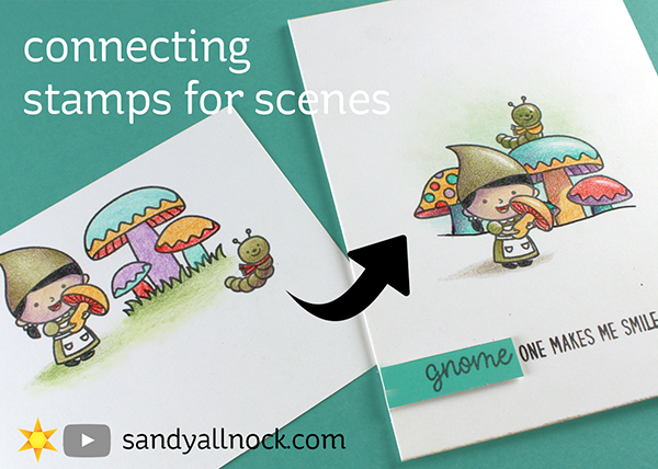 Connecting stamps for scenes