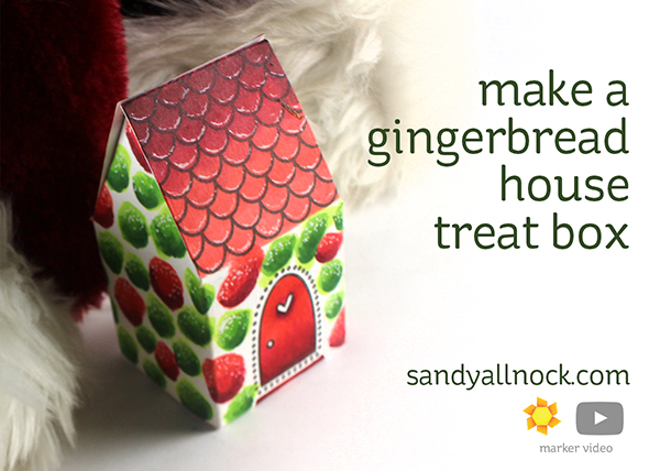 Make a Gingerbread House Treat Box