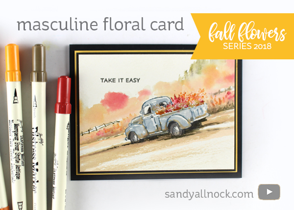 Fall Flowers Series 2018 #6: Masculine Floral Card