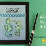Paint by Lifting: Underwater Seahorses