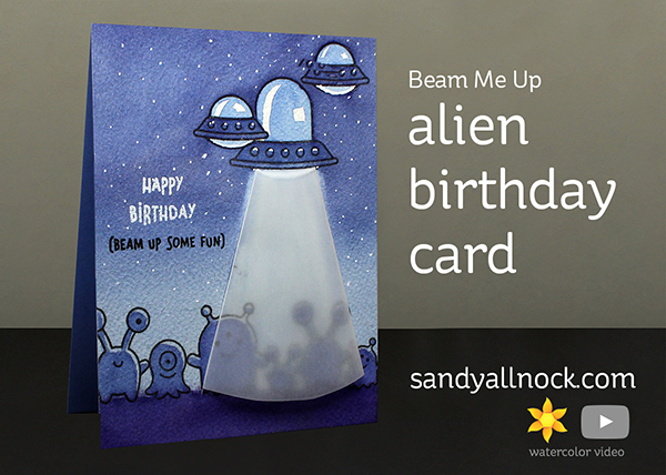 Beam Me Up – Alien birthday card