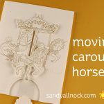 Moving Carousel Horse Card