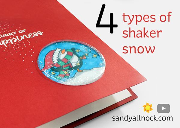 Penguin Week #3: Four types of shaker snow