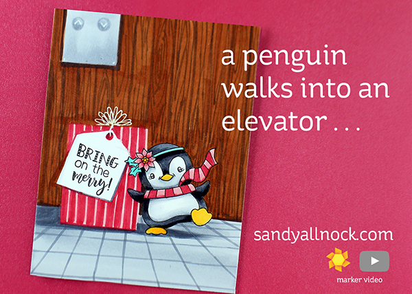 Penguin Week #7: A penguin waddled into an elevator