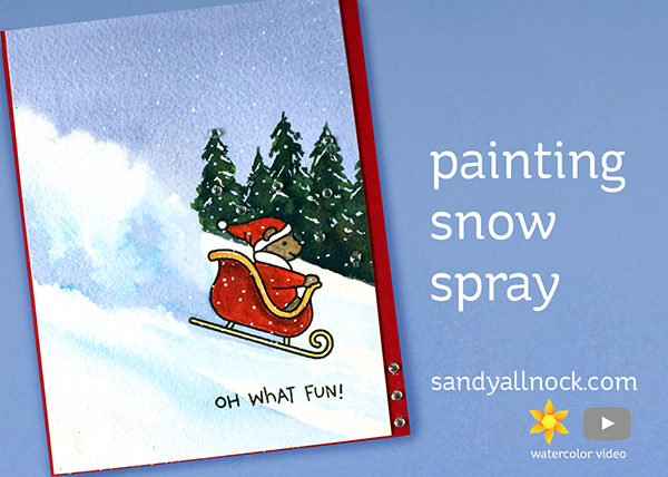 Painting Snow Spray